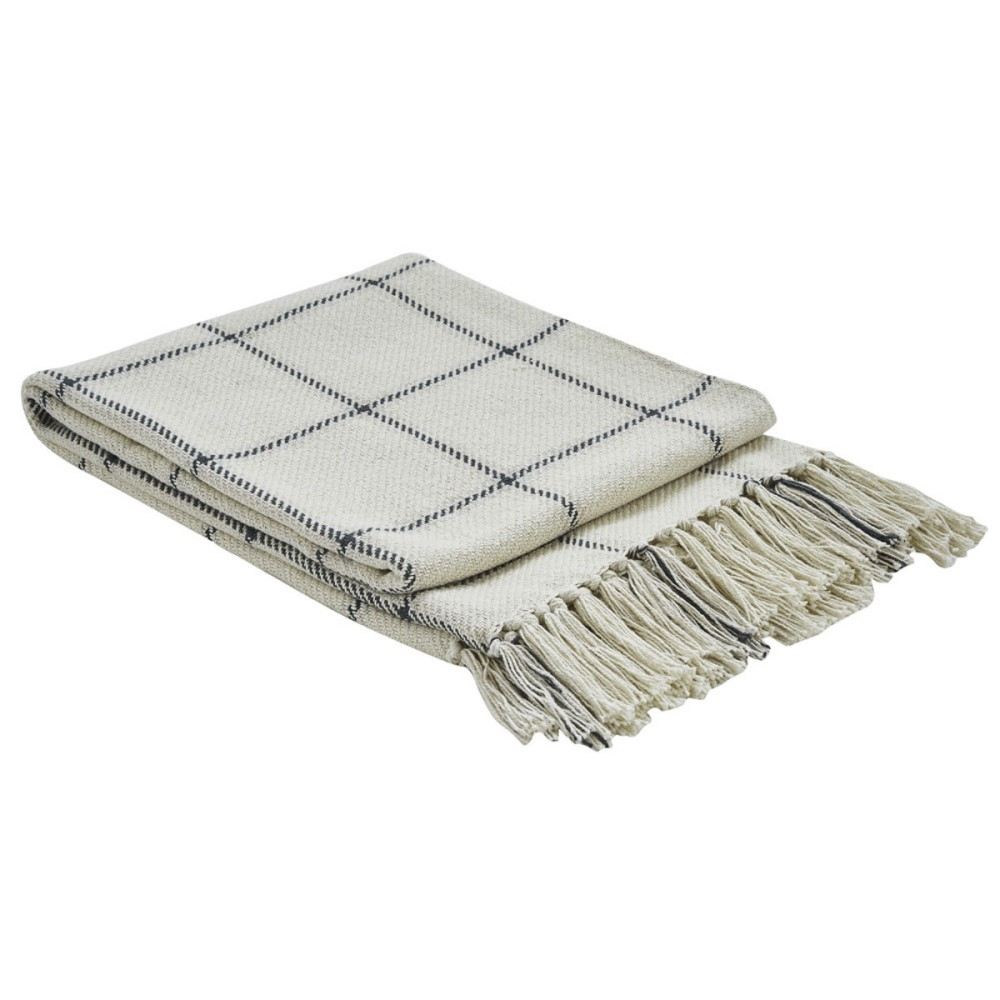 Park Designs Woven Throw Blanket - Mercantile Window Pane - 50in x 60in