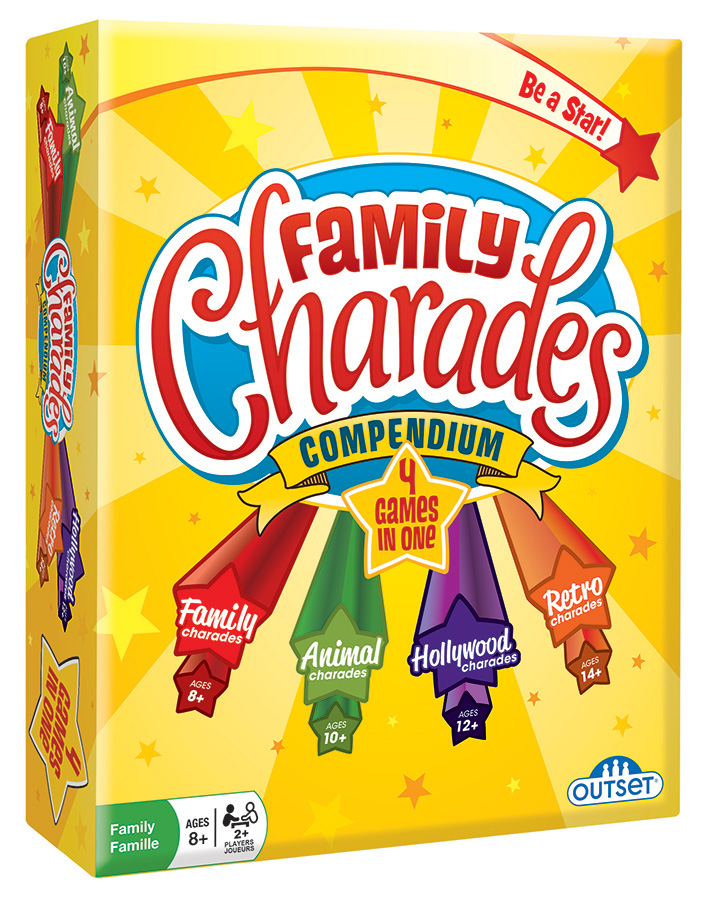Party Game - Family Charades Compendium - 4-in-1