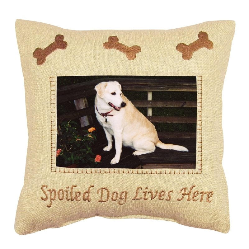 Decorative Picture Pillow - Spoiled Dog - 10in