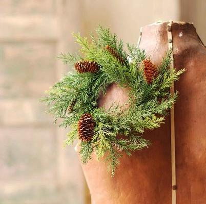 Pine Candle Ring - Green Prickly Pine - 3.5in