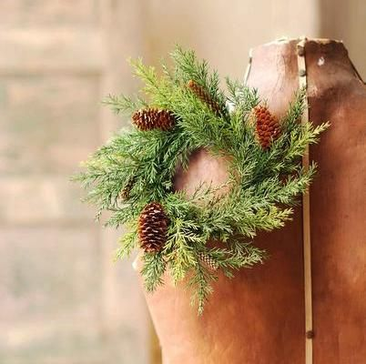 Pine Candle Ring - Green Prickly Pine - 3.5 Inch