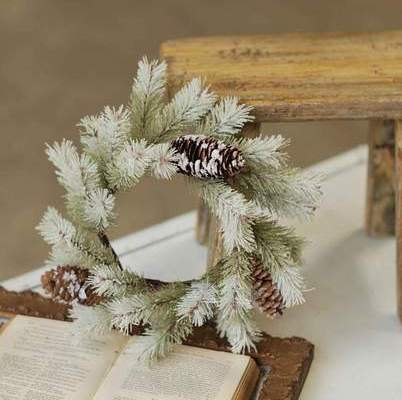 Pine Candle Ring - Snowdrift Pine - 4.5in
