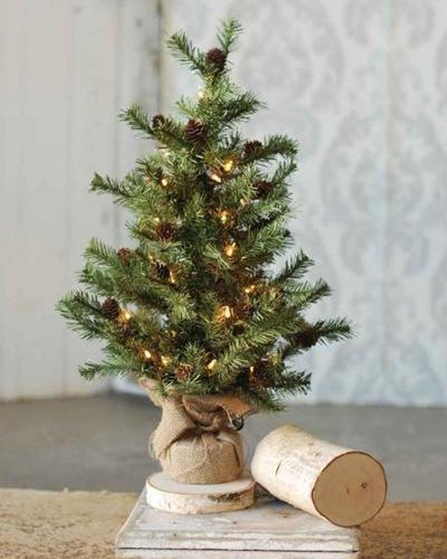 Pine Twig Tree - Table Top Christmas Tree - 2ft