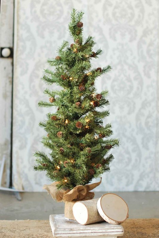Pine Twig Tree - Table Top Christmas Tree - 3 Foot
