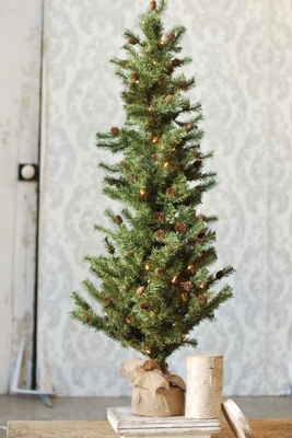 Pine Twig Tree - Table Top Christmas Tree - 4 Foot