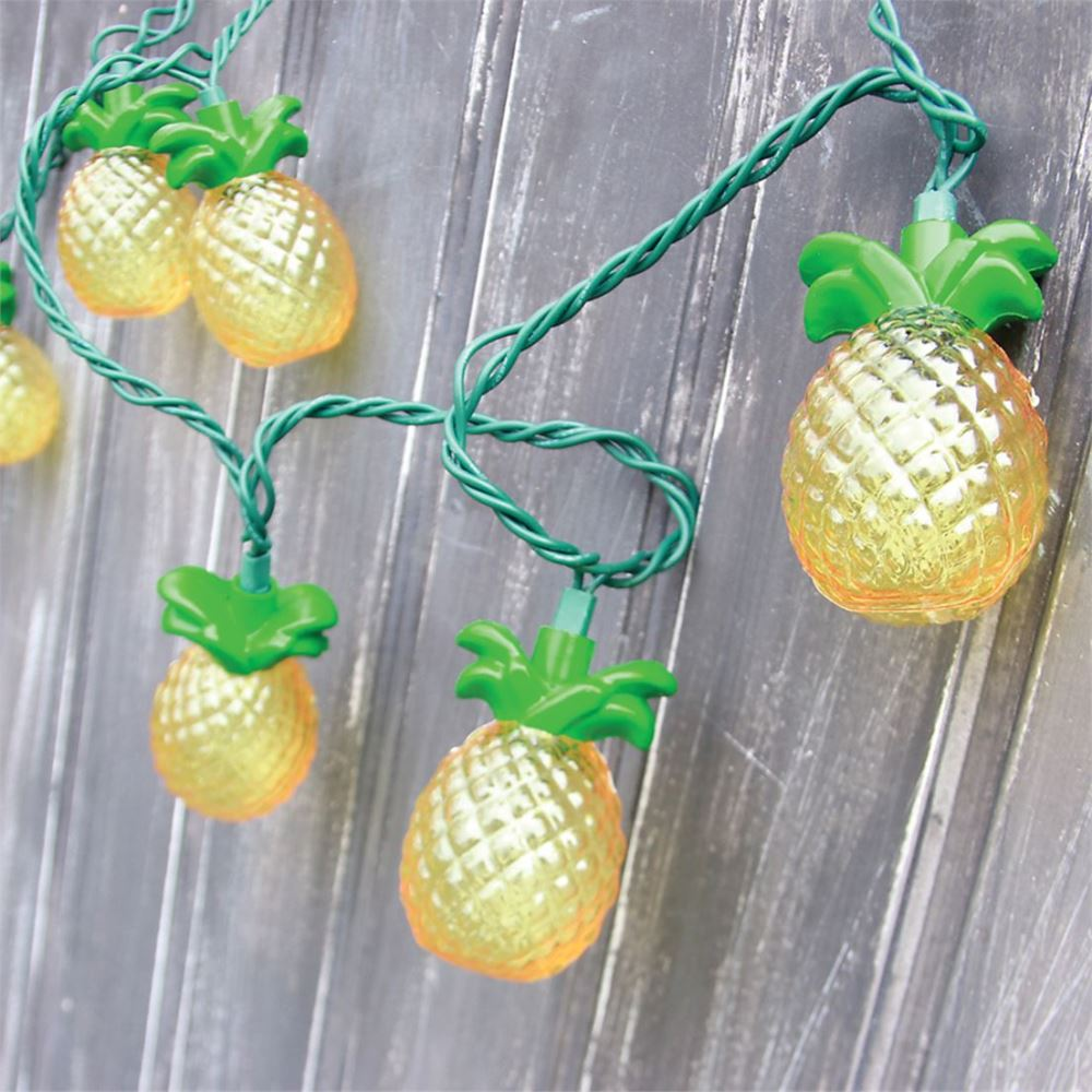 Pineapple String Lights - Beach Party Lights - Set of 10 - 8.5ft