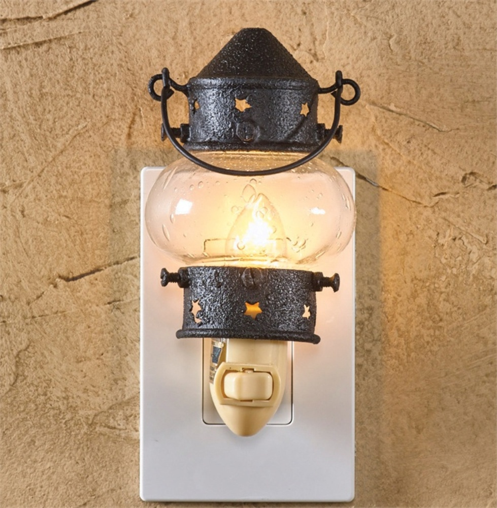 Plug In Night Light - Onion Lantern - 4.25 Inch