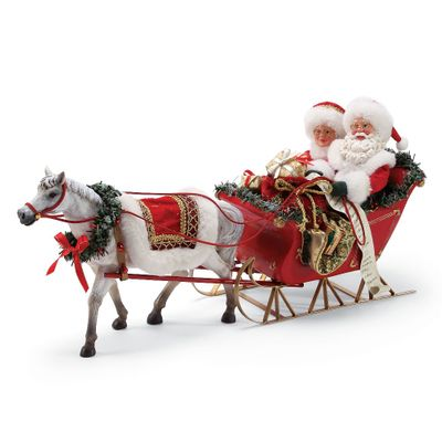 Possible Dreams Santa - One Horse Open Sleigh 2018