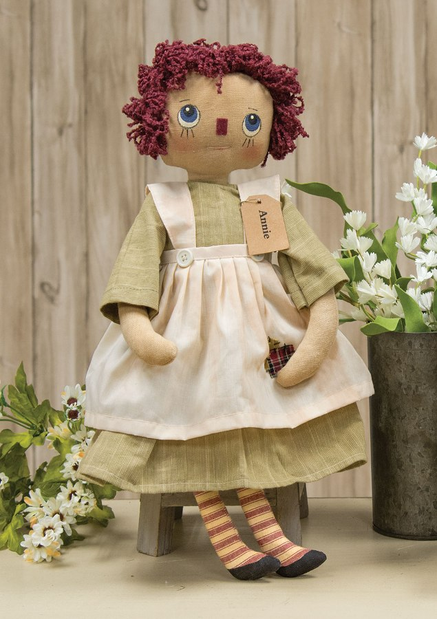 Primitive Plush Figurine - Annie Doll - 18in