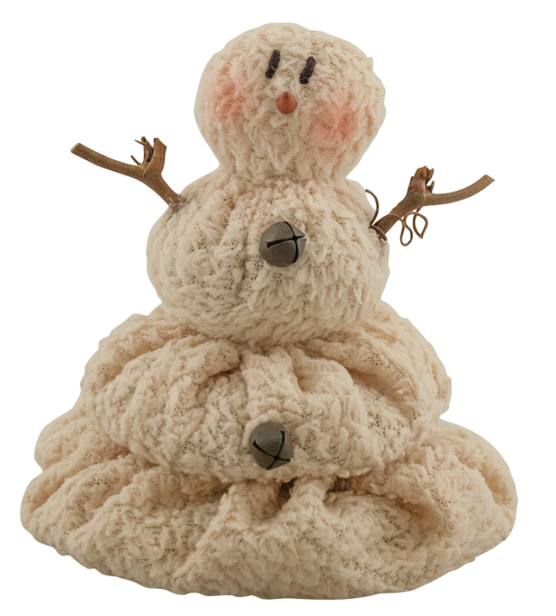 Primitive Plush Figurine - Melting Snowman - 5in