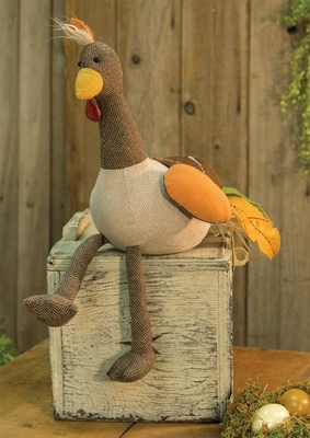 Primitive Plush Figurine - Tom Turkey - 12in