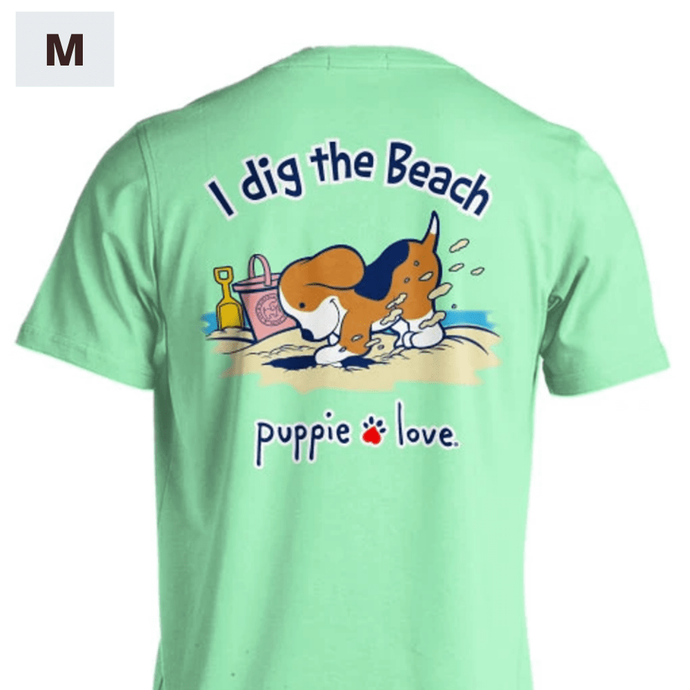 Puppie Love Shirt - I Dig The Beach Pup - M