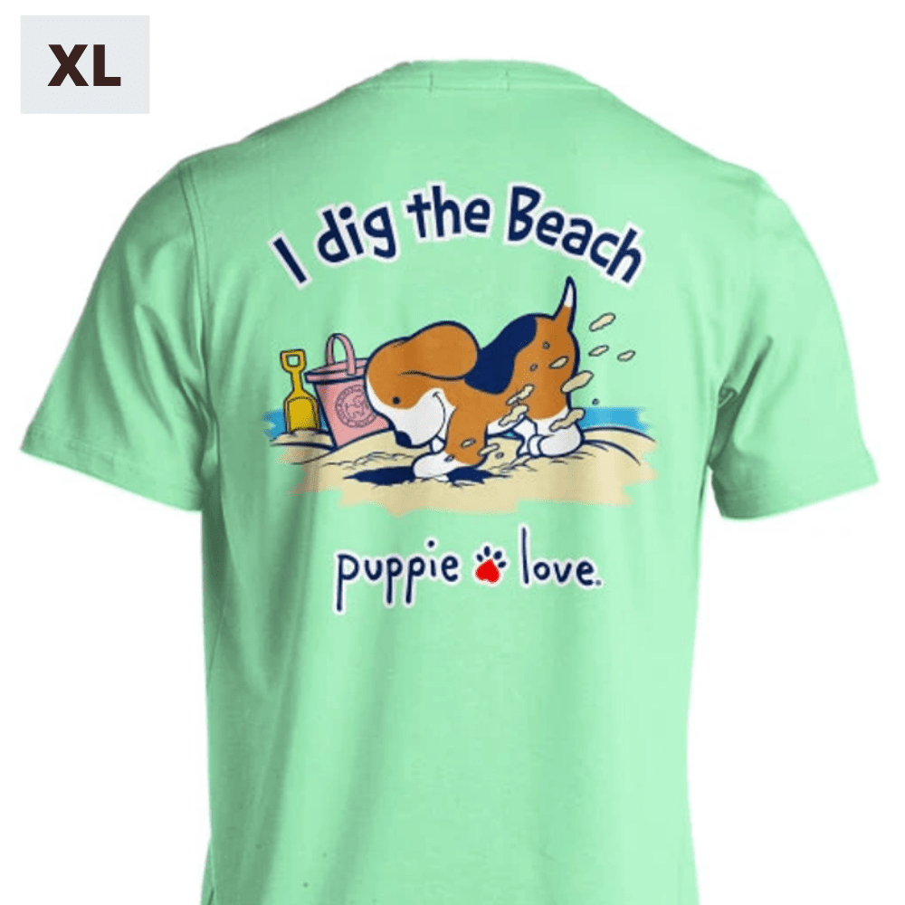 Puppie Love Shirt - I Dig The Beach Pup - XL