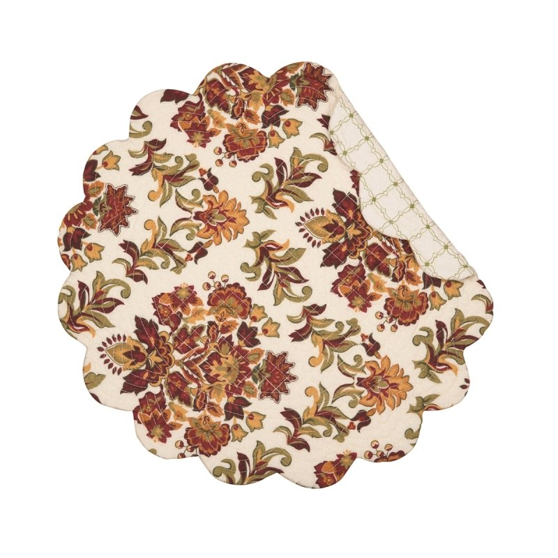 Quilted Reversible Placemat - Agnes - 17in
