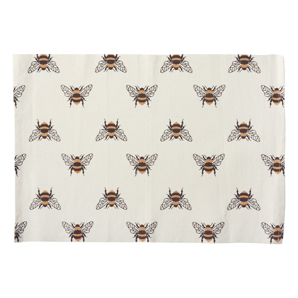 Rectangular Placemat - Bumble Bee - Washable - 19in x 13in