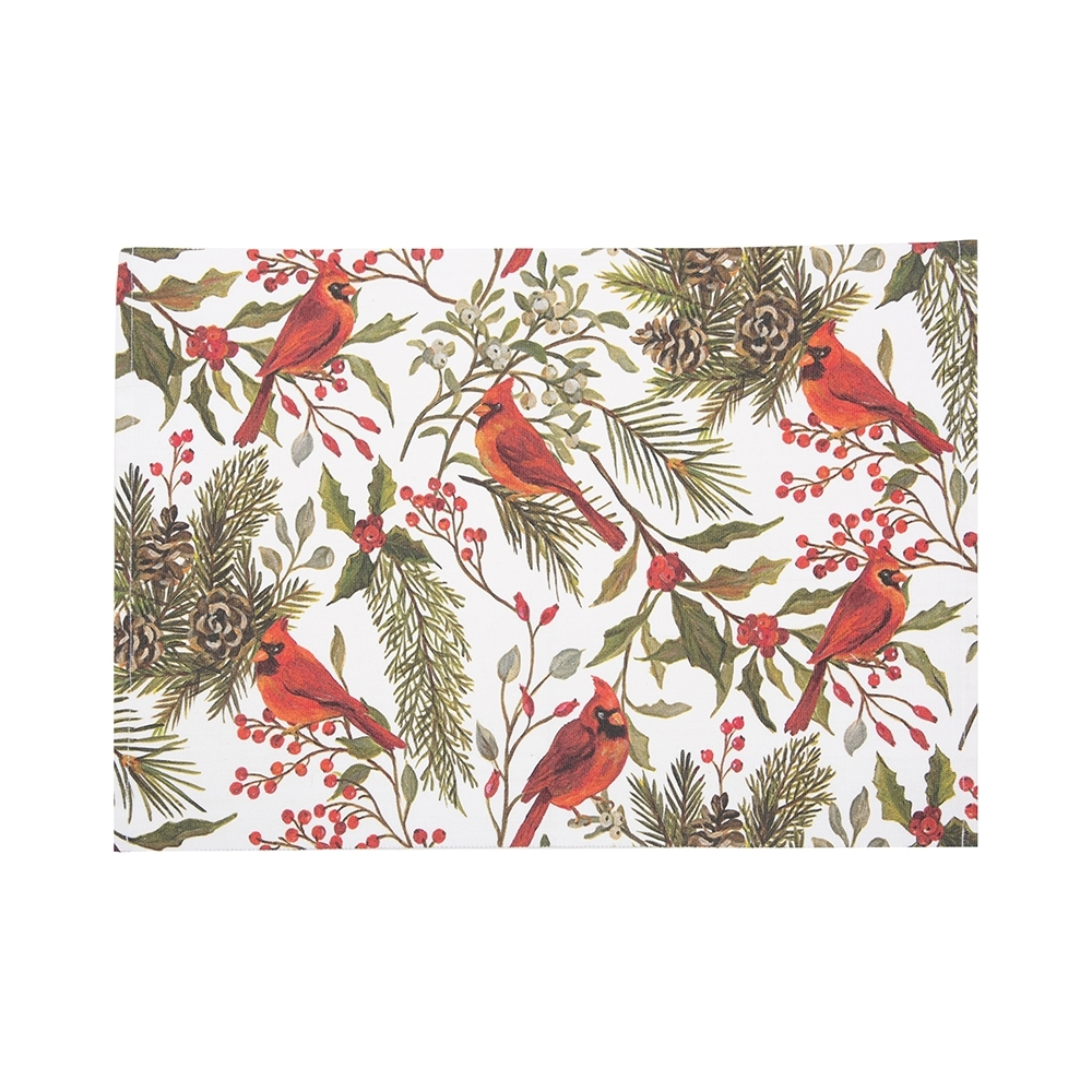 Rectangular Placemat - Cardinal Greenery - Washable - 19in x 13in
