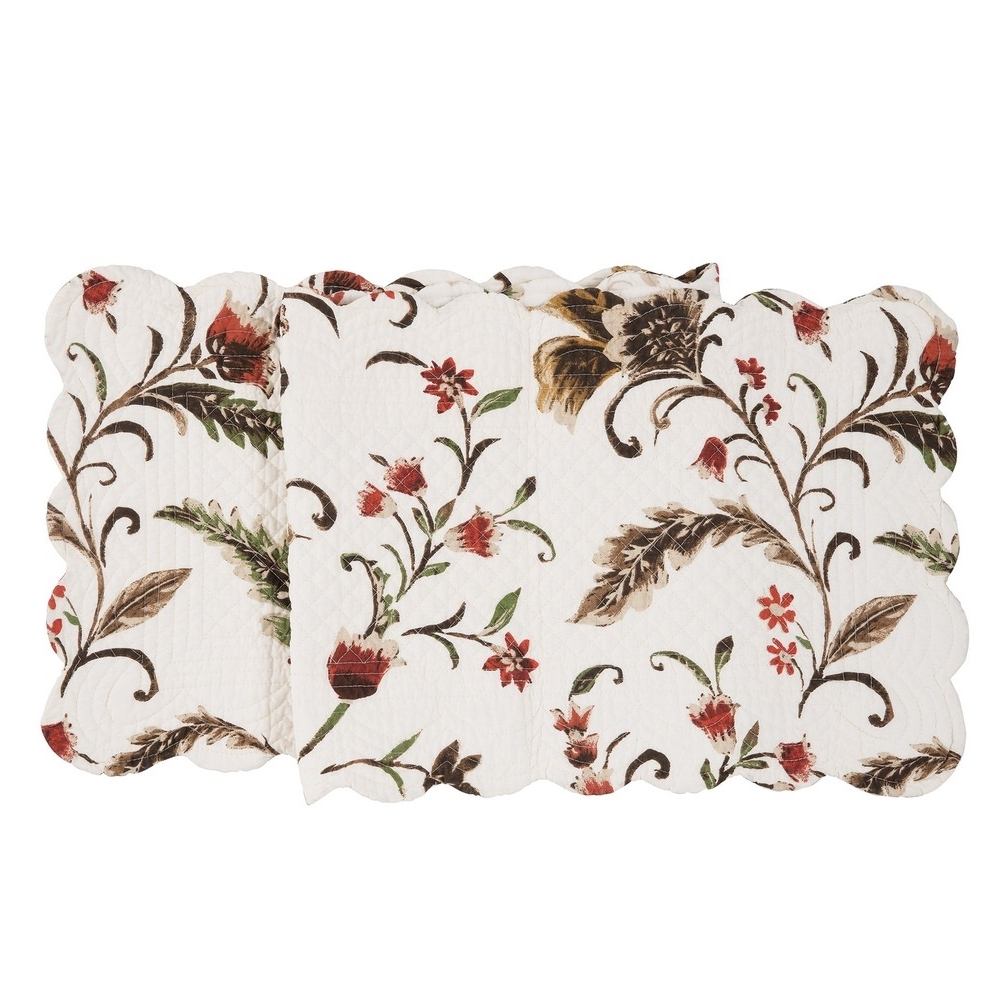 Rectangular Table Runner - Autumn Bloom - Quilted/Reversible - 51in x 14in