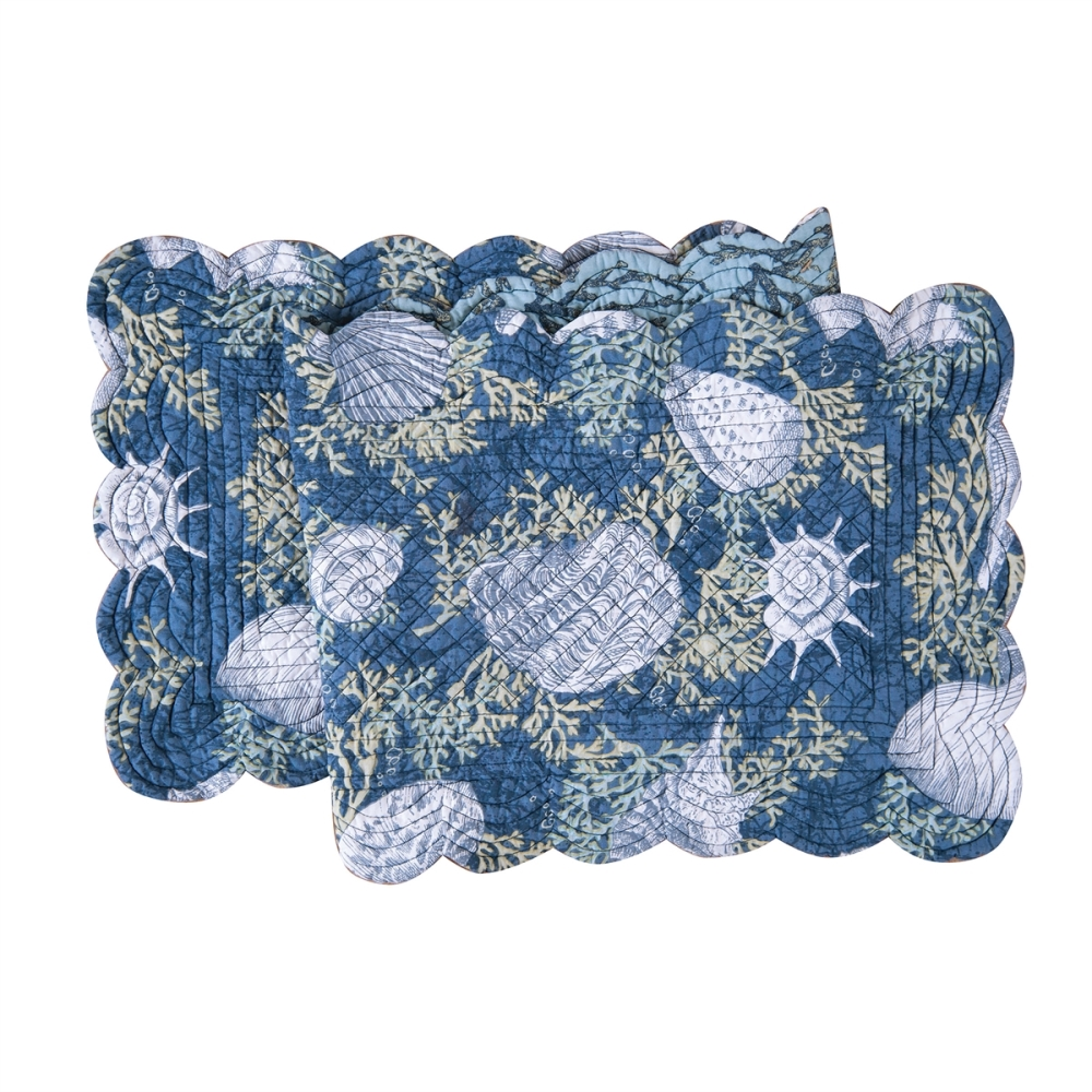 Rectangular Table Runner - Cape Coral - Quilted/Reversible - 51in x 14in