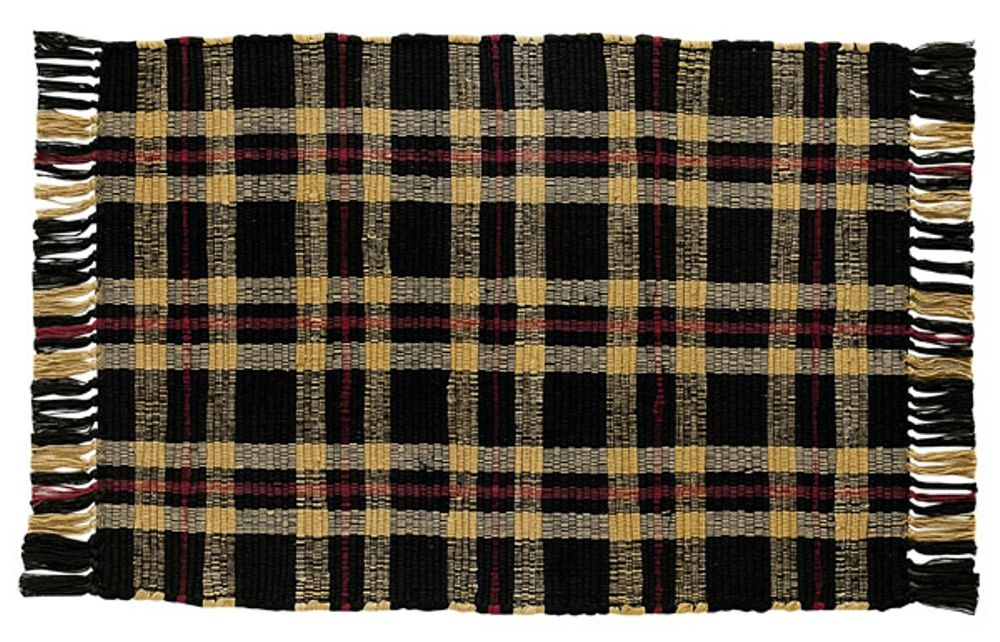Park Designs Rug - Cambridge Black - 24in x 42in