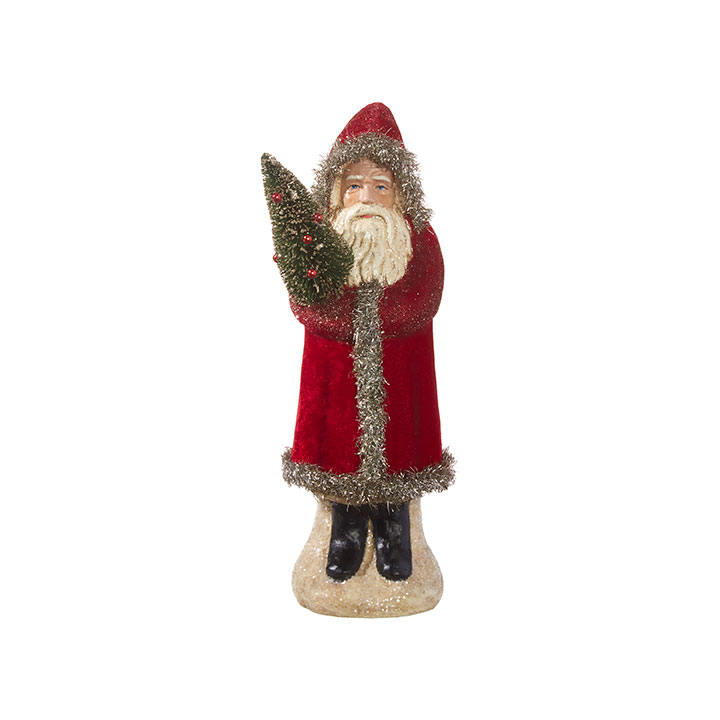 Santa Figurine - Holiday Heritage - Red - 12in