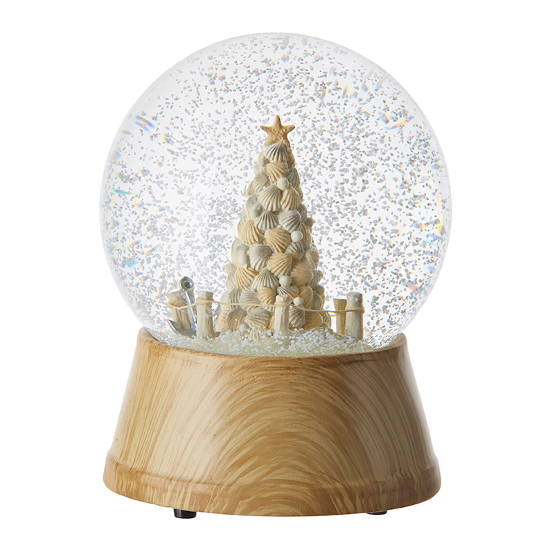 Seaside Musical Water Globe - 6.25in