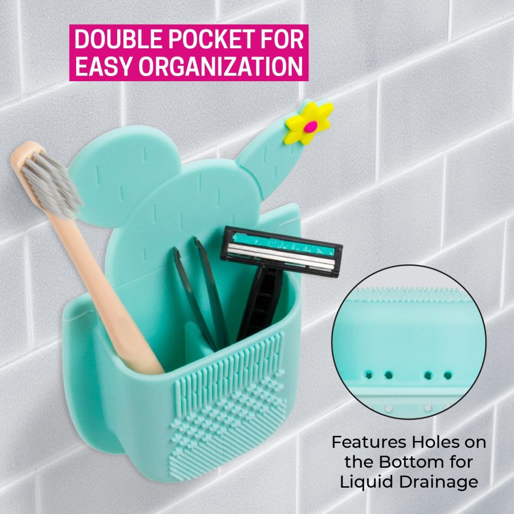 SiliPocket – Bathroom Pocket and Brush Cleaning Pad - Assorted Colors