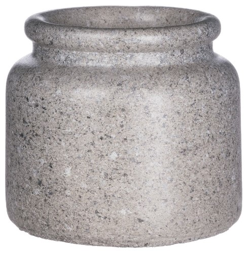 Simple Chic Flower Pot - Cement - 4.5in