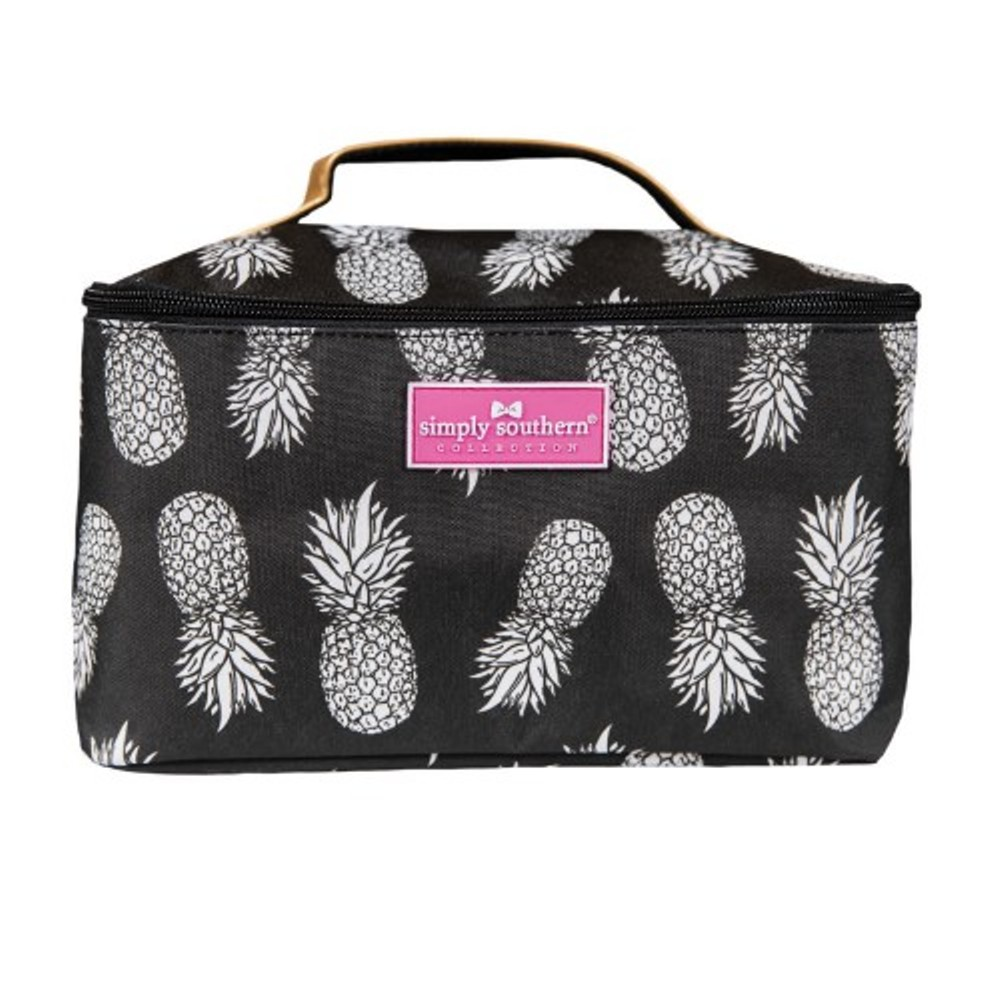 Simply Southern Glam Case - Black and Gold Pineapple