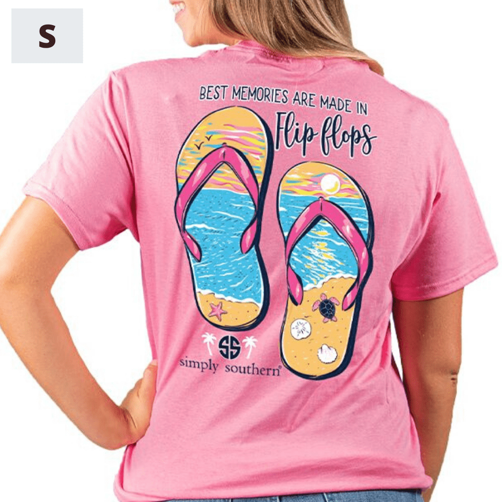 Simply Southern Shirt - Flip Flop Memories - S