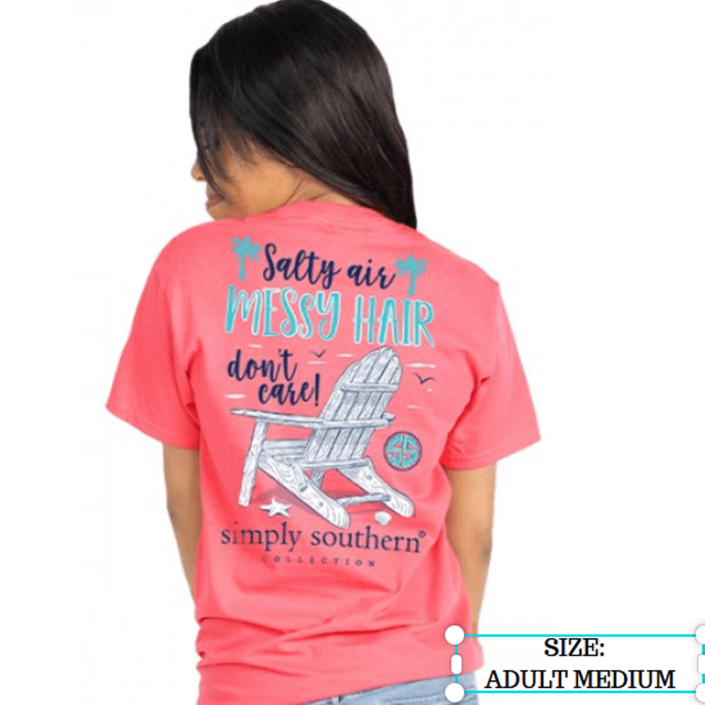 Simply Southern Shirt - Messy Hair - Begonia Pink - Medium
