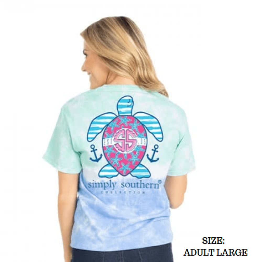 Simply Southern Shirt - Preppy Island Turtle - Large