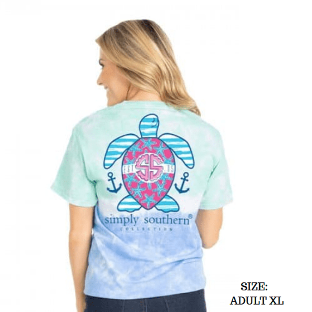 Simply Southern Shirt - Preppy Island Turtle - XL
