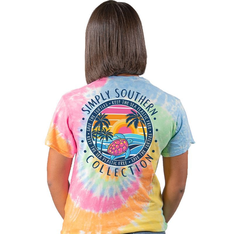 Simply Southern Shirt - Save The Turtles Sunset - L