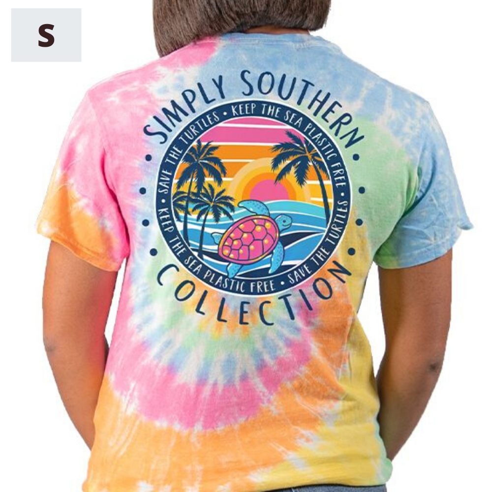 Simply Southern Shirt - Save The Turtles Sunset - S