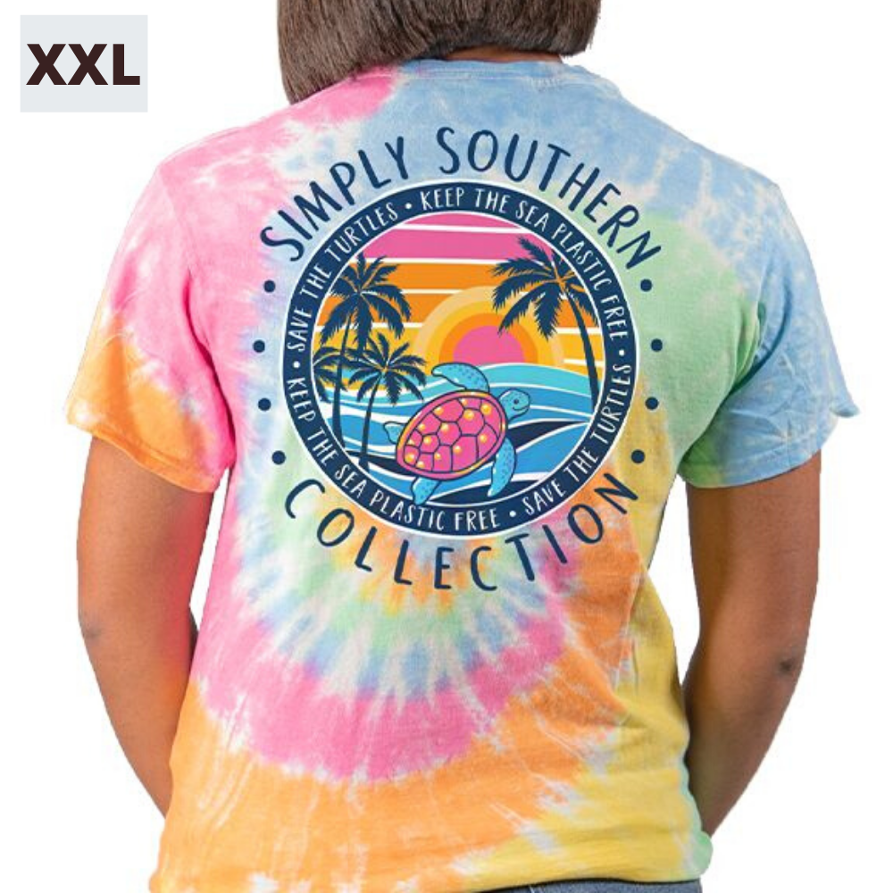 Simply Southern Shirt - Save The Turtles Sunset - XXL