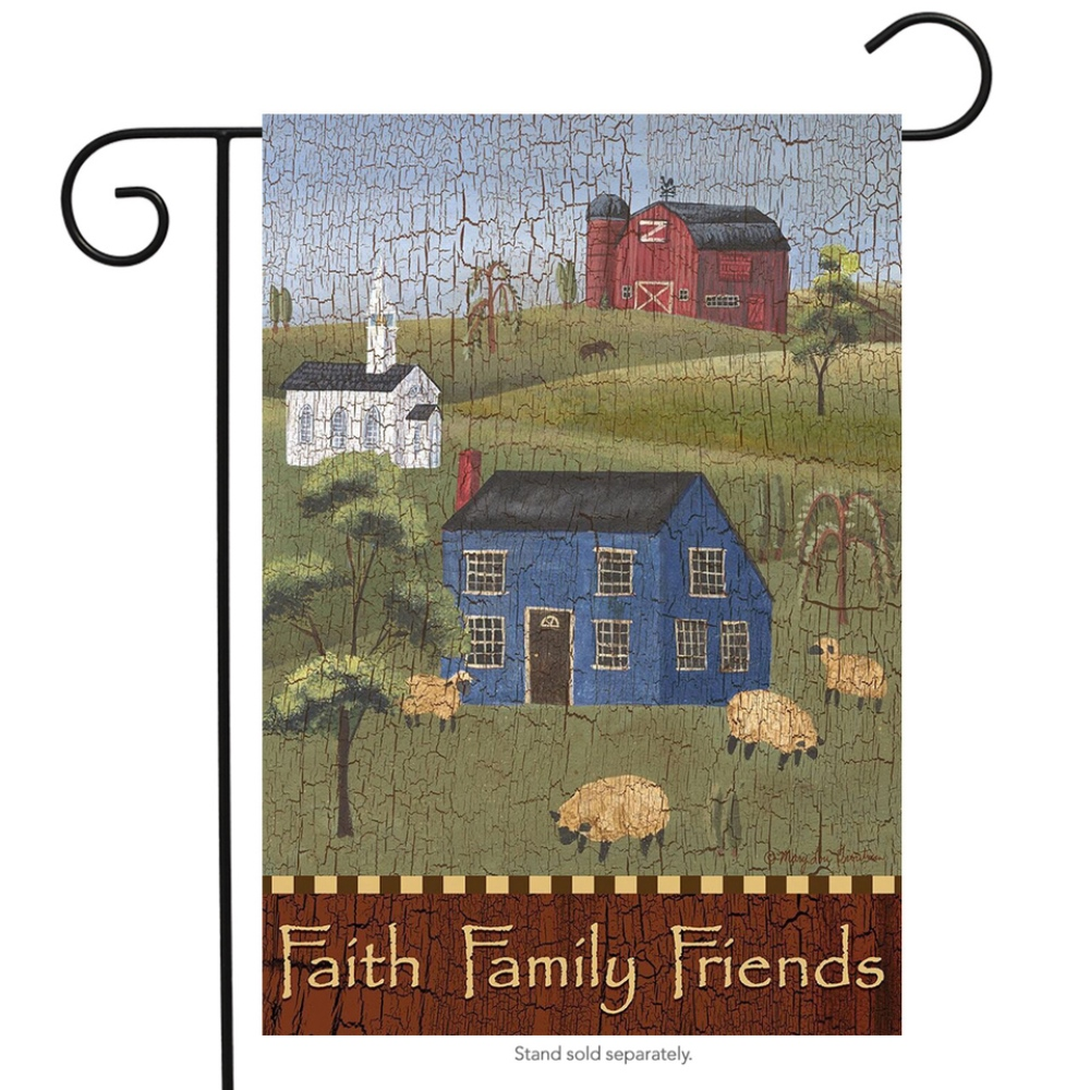 Small Garden Flag - Faith Family Friends - 12.5in x 18in
