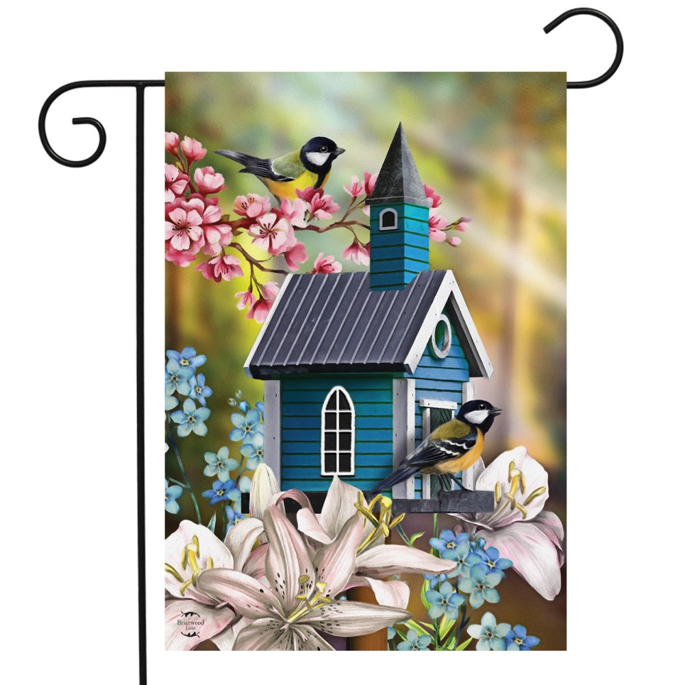 Small Garden Flag - Peaceful Garden - 12.5in x 18in