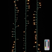Snake Garland Lights - 1000 Warm White LED Lights - Green Wire - 73ft