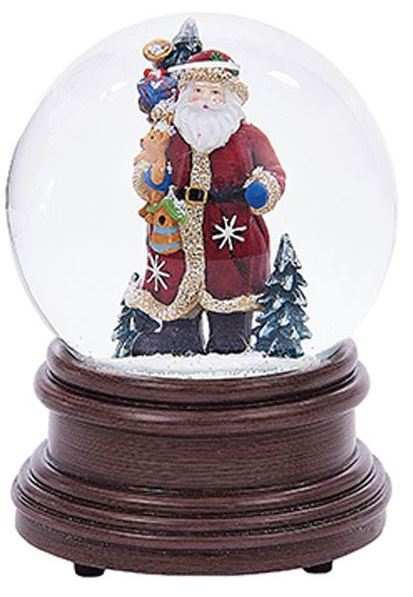 Snow Globe - Musical - Santa - 100mm
