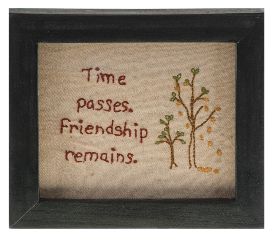 Stitch Wall Hanging - Friendship Sampler - 7in x 6in