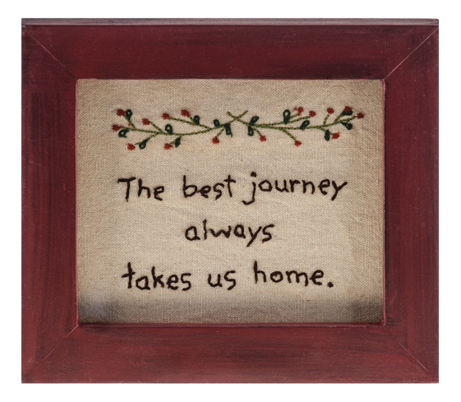 Stitch Wall Hanging - Home Sampler - 7.25in x 6.25in