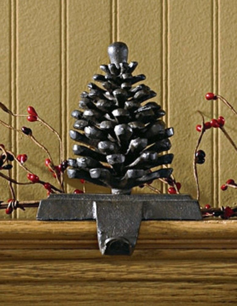 Park Designs Stocking Holder - Rustic Iron Pinecone Hook