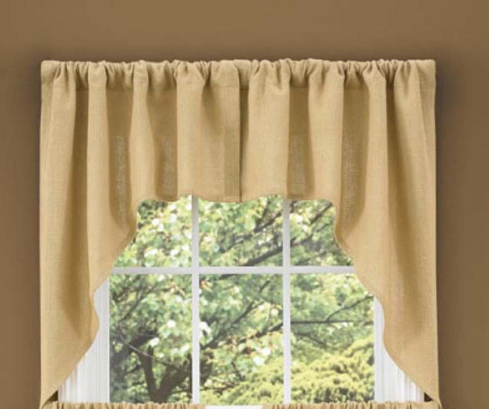 Unlined Window Swag - Burlap - 72in x 36in