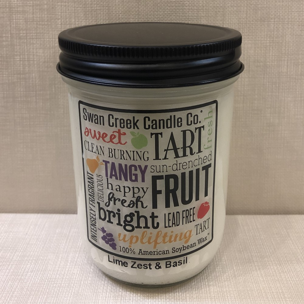 Swan Creek Candle - Lime Zest Basil - 12oz