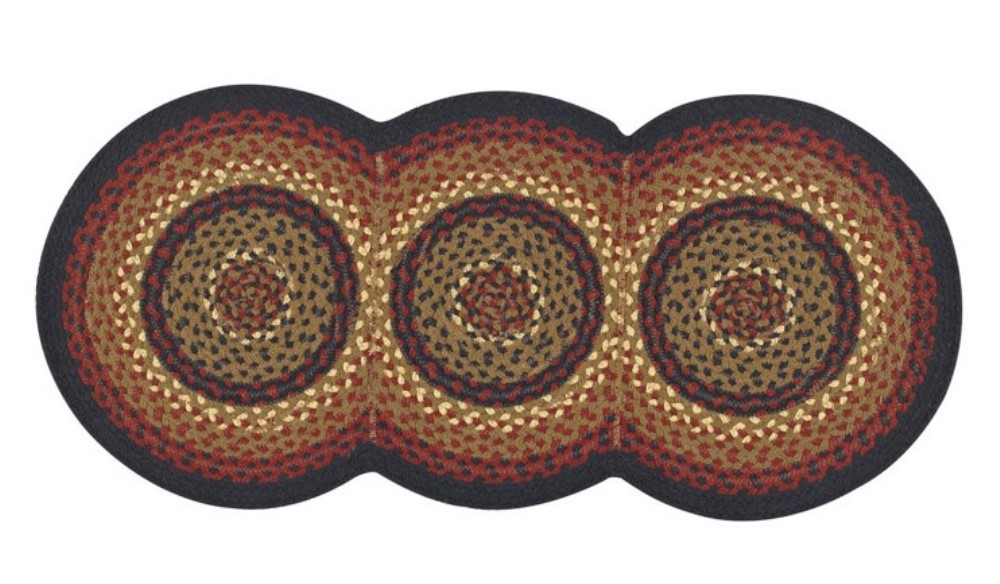 Park Designs Braided Runner - Folk Art - 15in x 34in