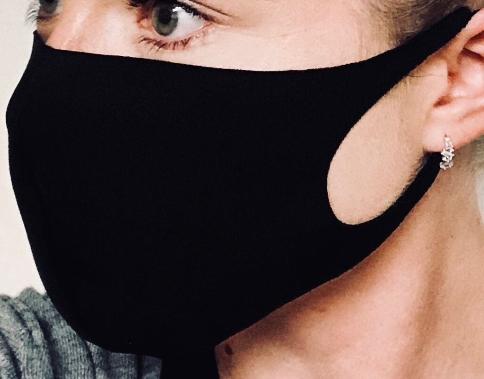 Fashion Face Mask 3 Pack - Cotton - Solid Black