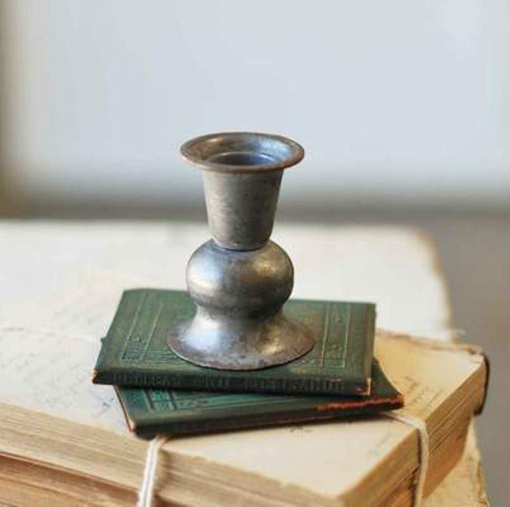 Taper Candle Holder - Pewter Look - 3 Inch