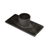 Taper Candle Holder - Simple Black Iron Candleholder - 3in