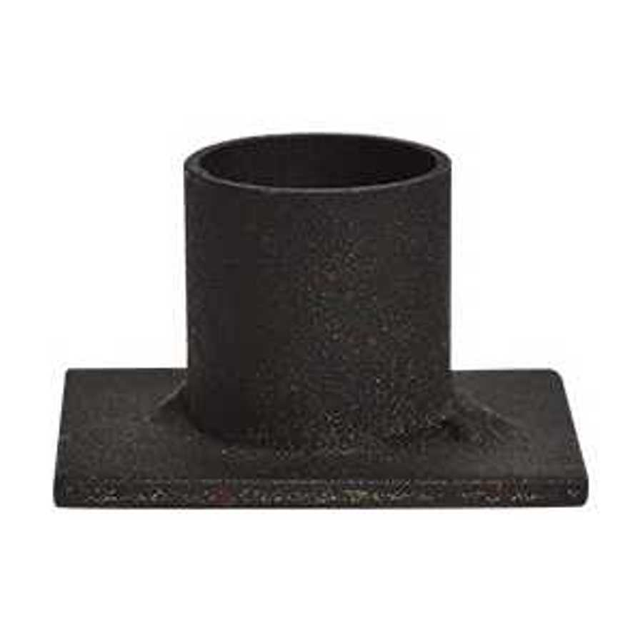 Taper Candleholder - Simple Black Iron Candleholder - 2in