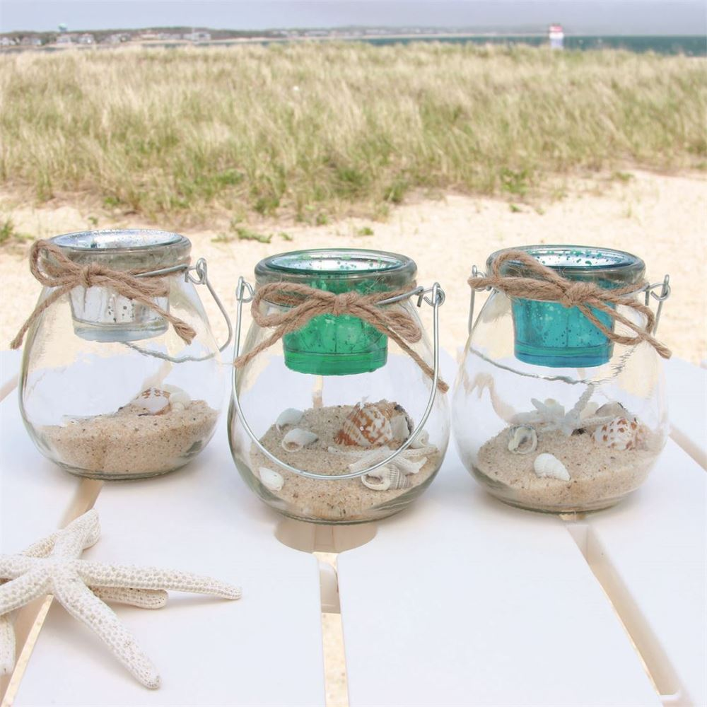 Tealight Candle Holders - Sand And Shells - Assorted